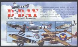 F713 SIERRA LEONE WAR MILITARY D-DAY GREATEST INVASION 1KB MNH - 2. Weltkrieg