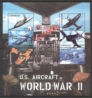F718 LIBERIA MILITARY AVIATION U.S.AIRCRAFT OF WORLD WAR II WWII 1KB MNH - 2. Weltkrieg