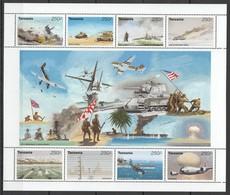 F720 TANZANIA MILITARY & WAR 50TH ANNIVERSARY OF WORLD PEACE 1KB MNH - 2. Weltkrieg