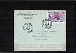 LCA7- VIET-NAM LETTRE AVION SAIGON / ST GERMAIN 23/3/1956 - Viêt-Nam