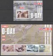 F724 GAMBIA WAR D-DAY 60TH ANNIVERSARY 1KB+1BL MNH - 2. Weltkrieg