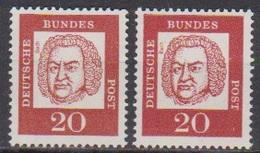 BRD 1961 MiNr. 352x + Y ** Postfr.Bedeutende Deutsche ( 6862 )günstige Versandkosten - BRD