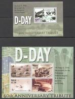 F727 NIUE WAR D-DAY 60TH ANNIVERSARY 1KB+1BL MNH - 2. Weltkrieg
