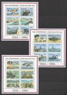 F728 TANZANIA WORLD WAR 2 50TH ANNIVERSSARY D-DAY 3KB MNH - 2. Weltkrieg