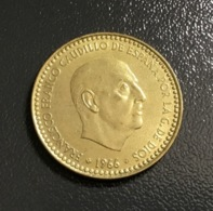 SPAGNA - ESPANA - 1966 - Moneta 1 PESETA - Effige Franco , Ottima - [ 5] 1949-… : Regno