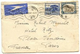 South Africa 1937 Airmail Cover Johannesburg To Paris France, Scott 39b & 43b - South Africa (...-1961)