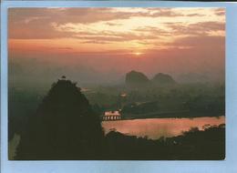 Sunrise Over Diecai Hill (China Chine) 2 Scans - Chine