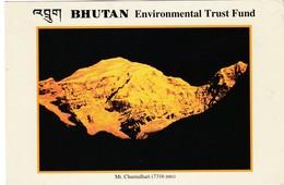 BHUTAN USED POSTCARD,Mt CHUMULHARI..(PD) - Bhutan