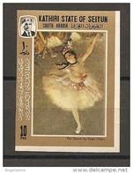 SEIYUN SOUTH ARABIA - EDGAR DEGAS Ballerina Nuovo** MNH - Impressionismo