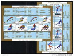 ABKHAZIE ABKHAZIA 1997, J.O. NAGANO, 2 Feuillets De 2 Séries De 4 Valeurs, Avec Liste Des Différents J.O. Hiver. R802 - Géorgie