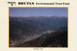 BHUTAN USED POSTCARD,THIMPHU VALLEY..(PD) - Bhutan