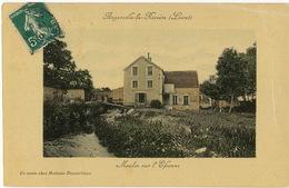 Angerville La Riviere Moulin Sur L' Eponne Edit Ducourtioux  Colorisée Envoi Aux Sablons Par Moret 77 - France