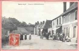 Saint Agil - Route De Mondoubleau Animée - Autres Communes