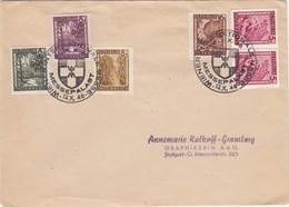 ÖSTERREICH 1945 - Beleg Mit MiNr:740-742-743-744-749 SStmp. Wiener Messe - 1918-1945 1. Republik