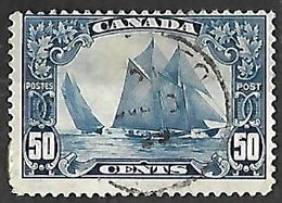 Canada   1929   Sc#158  50c  Sailing Ship BLUENOSE Used   2016 Scott Value $65 - 1911-1935 Règne De George V