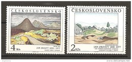 CECOSLOVACCHIA - 1980 JAN ZRZAVY 2 Paesaggi 2v. Nuovi** MNH - Moderni
