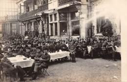 CARTE PHOTO ALLEMANDE  SPA    1918 FETE DE PRINTEMPS Du SERVICE DES TRANSMISSIONS  (GRAND QUARTIER GENERAL)  HÔTEL ? - Spa