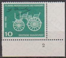 BRD 1961 MiNr. 363 Formnr. ** Postfr. 75 Jahre Motorisierung Des Verkehrs ( 6875 )günstige Versandkosten - BRD