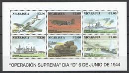 F786 1994 NICARAGUA MILITARY & WAR OPERATION SUPREMA D-DAY 1KB MNH - 2. Weltkrieg