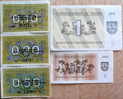 008 - LOT De 5 BILLETS LITUANIE - TTB à NEUF - Litouwen