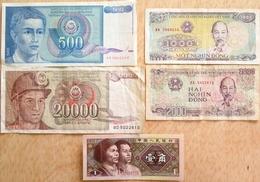 012 - LOT De 5 BILLETS ETRANGERS - TB à NEUF - Bankbiljetten
