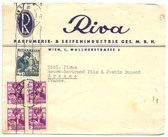 Austria 1936 Advertising Cover Vienna, Riva, Parfumerie & Seifenindustrie To Grasse France - 1918-1945 1. Republik