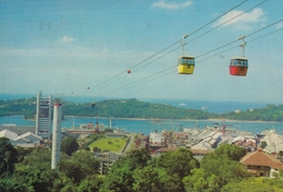Singapore - Cable Cars From Mt Faber To Sentosa 1980 - Singapour