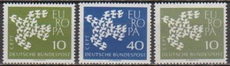 BRD 1961 MiNr. 367x - 368x +367y ** Postfr. Europa ( 6880 )günstige Versandkosten - BRD