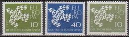 BRD 1961 MiNr. 367x - 368x +367y ** Postfr. Europa ( 6881 )günstige Versandkosten - BRD