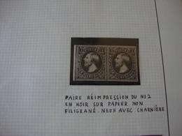Réimpression Du N°2. - 1852 Willem III