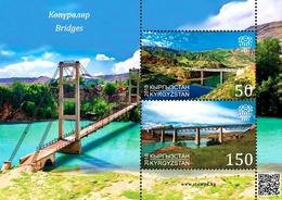 Kyrgyzstan 2018 MS MNH  Bridges - 2018