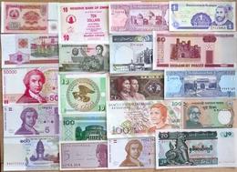 016 - LOT De 20 BILLETS ETRANGERS - SPL à NEUF - Bankbiljetten