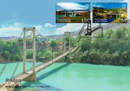 Kyrgyzstan 2018 FDC  Bridges - 2018