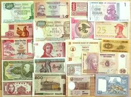 018 - LOT De 20 BILLETS ETRANGERS - SPL à NEUF - Bankbiljetten