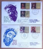 FDC Venetia Vaticano 1970 - 50° Sacerdozio Paolo VI - Raccomandate Timbro Arrivo - Francobolli
