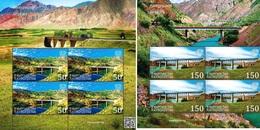 Kyrgyzstan 2018 2 Sheets MNH  Bridges - 2018