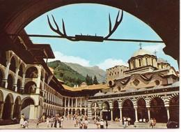 Bulgarie Le Monastère De Rila Belle Vue Très Animée Patrimoine Mondial De L'Unesco - Bulgarie