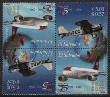 Salvador (2006) Yv. 1639/40 - Inverted Pair  /  Airplane - Avion - Aircraft - Aviones