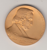 Vincenzo Gioberti Nel Centenario Della Nascita, Medaglia Commemorativa  Della Johnson Incisore Nicola Rubino 1901 - Royal/Of Nobility