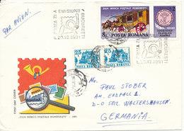 Romania Cover Sent To Germany 20-12-1991 - 1948-.... Républiques