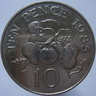 Guernsey 10 Pence 1985 XF - Guernsey