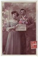 Couple - Croyez à L'amitié - Ed. : J.K. 550 écrite De Roz Landrieux à Cancale (2 Scans) - Couples