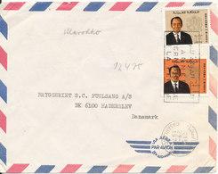 Morocco Air Mail Cover Sent To Denmark Casablanca 29-3-1975 - Morocco (1956-...)