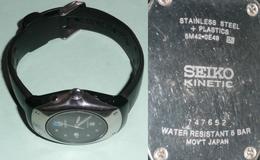 Montre SEIKO Kinetic A RESTAURER (batterie à Changer), Mvt Japan Water Resist, Bracelet Caoutchouc - Relojes Modernos