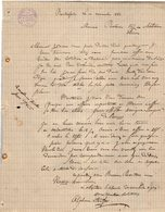 VP12.423 - Lettre - Alphonse MONTFORT Représentant De Commerce à LA TREMOUILLE ( Vienne ) - France