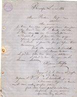 VP12.424 - Lettre - Alphonse MONTFORT Représentant De Commerce à LA TREMOUILLE ( Vienne ) - France