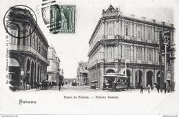 CARAÏBES - CUBA - HABANA < PASEO DE ZULUETA - ZULUETA AVENUE - Cartes Postales