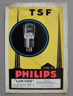 Tarif Lampes Réceptrice MINIWATT Philips Juillet 1928 Ets LUX-VOX - Supplies And Equipment