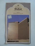 DUBAI. CITY MAPS INCLUDING MINA JEBEL ALI - GEOPROJECTS, UNITED ARAB EMIRATES, 1982. 52X44 CM MAP. - Cartes