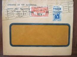 Lettre Enveloppe 1939 Alger RP Cover Colonies France Algérie Timbre Guignolet BYRRH Chemins De Fer Algérien - Algerije (1924-1962)